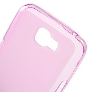 Matný gélový obal pre mobil LG K4 - ružové - 4