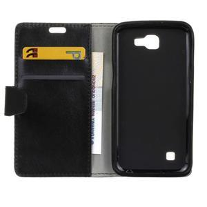Leat peněženkové pouzdro na LG K4 - černé - 4