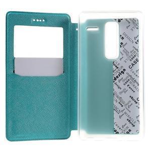 Cross peňaženkové puzdro s okienkom na LG Zero - modré - 4