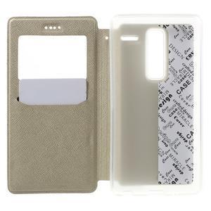 Cross peněženkové pouzdro s okýnkem na LG Zero - zlaté - 4