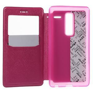 Cross peňaženkové puzdro s okienkom na LG Zero - rose - 4