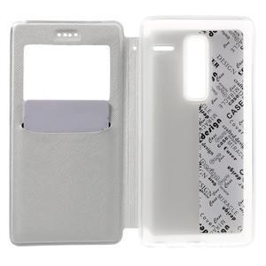 Cross peňaženkové puzdro s okienkom na LG Zero - biele - 4