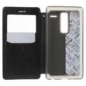 Cross peňaženkové puzdro s okienkom na LG Zero - čierne - 4