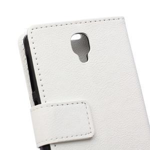Wallet puzdro pre mobil Lenovo A1000 - bielé - 4