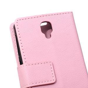 Wallet puzdro pre mobil Lenovo A1000 - ružové - 4
