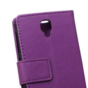 Wallet pouzdro na mobil Lenovo A1000 - fialové - 4