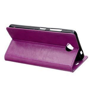 Fold peňaženkové puzdro na Microsofst Lumia 650 - fialové - 4