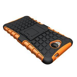 Outdoor odolný obal pre mobil Microsoft Lumia 650 - oranžový - 4