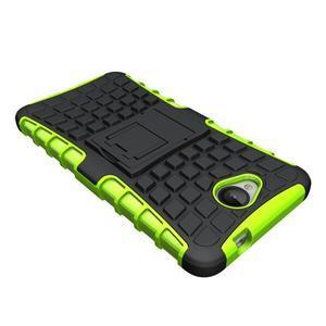 Outdoor odolný obal na mobil Microsoft Lumia 650 - zelený - 4