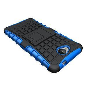 Outdoor odolný obal pre mobil Microsoft Lumia 650 - modrý - 4