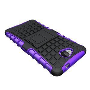 Outdoor odolný obal pre mobil Microsoft Lumia 650 - fialový - 4