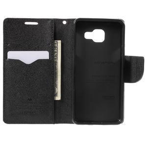 Goospery peňaženkové puzdro na Samsung Galaxy A3 (2016) - čierné - 4