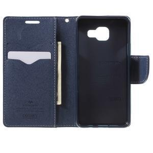 Goospery peňaženkové puzdro na Samsung Galaxy A3 (2016) - cyan - 4