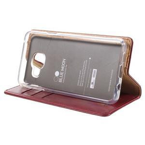 Mercury peňaženkové puzdro pre Samsung Galaxy A3 (2016) - vínové - 4