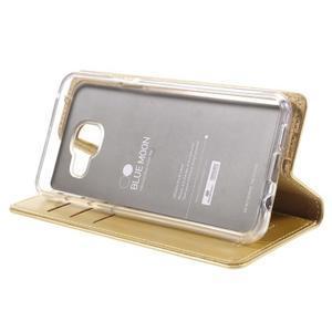 Mercury peňaženkové puzdro pre Samsung Galaxy A3 (2016) - zlaté - 4