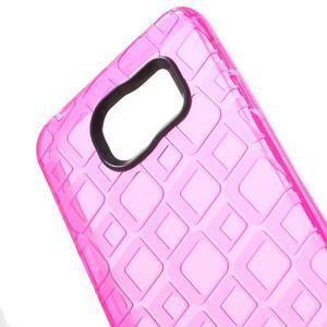 Square gélový obal na mobil Samsung Galaxy A3 (2016) - rose - 4