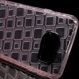 Square gélový obal na mobil Samsung Galaxy A3 (2016) - růžový - 4