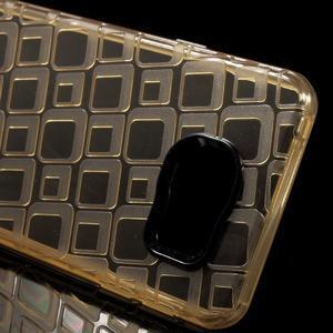 Square gélový obal na mobil Samsung Galaxy A3 (2016) - zlatý - 4