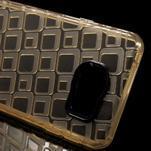 Square gélový obal pre mobil Samsung Galaxy A3 (2016) - zlatý - 4/6