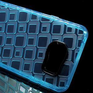 Square gélový obal pre mobil Samsung Galaxy A3 (2016) - modrý - 4