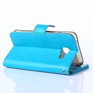 Wallet puzdro na mobil Samsung Galaxy A3 (2016) - modré - 4
