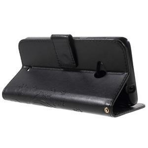 Butterfly peňaženkové puzdro na Microsoft Lumia 535 - čierné - 4