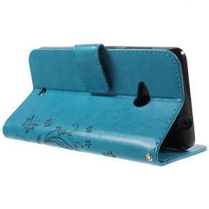 Butterfly peňaženkové puzdro na Microsoft Lumia 535 - modré - 4
