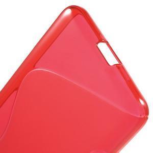 S-line gélový obal na mobil Microsoft Lumia 650 - červený - 4