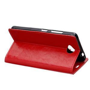 Fold peňaženkové puzdro na Microsofst Lumia 650 - červené - 4