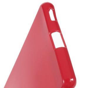 Lesklý gélový obal pre mobil Sony Xperia M5 - červený - 4