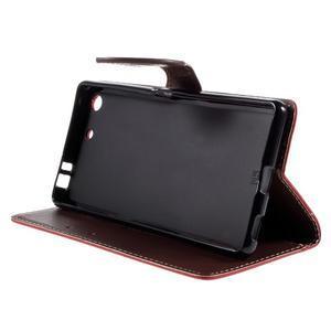 Blade Peňaženkové puzdro pre Sony Xperia M5 - červené - 4