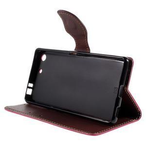 Blade peněženkové pouzdro na Sony Xperia M5 - rose - 4