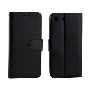 Horse PU kožené puzdro pre Sony Xperia M5 - čierne - 4