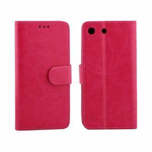 Horse PU kožené pouzdro na Sony Xperia M5 - rose - 4