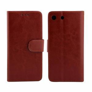 Horse PU kožené pouzdro na Sony Xperia M5 - hnědé - 4