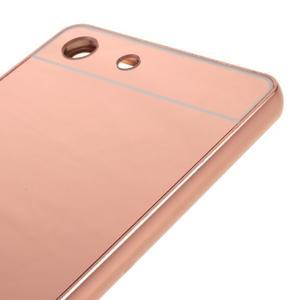Kryt s kovovým obvodom pre Sony Xperia M5 - rose gold - 4