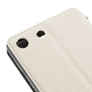 Diary puzdro s okienkom na Sony Xperia M5 - biele - 4