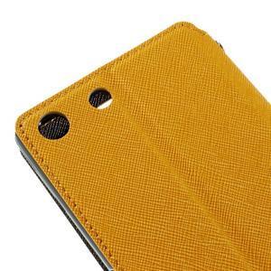 Diary puzdro s okienkom na Sony Xperia M5 - žlté - 4