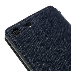 Diary pouzdro s okýnkem na Sony Xperia M5 - tmavěmodré - 4