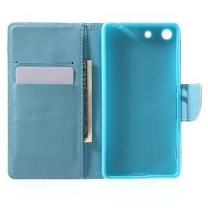 Stand Peňaženkové puzdro pre Sony Xperia M5 - malej sovy - 4