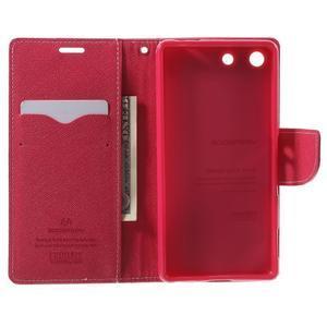 Goos PU kožené penženkové pouzdro na Sony Xperia M5 - růžové - 4