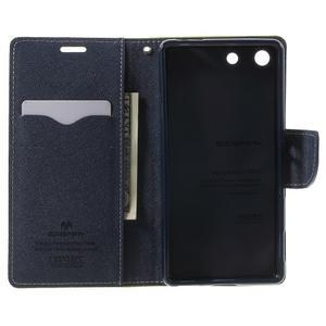 Goos PU kožené peňaženkové puzdro pre Sony Xperia M5 - zelené - 4