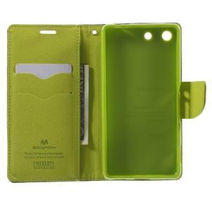 Goos PU kožené penženkové pouzdro na Sony Xperia M5 - tmavěmodré - 4