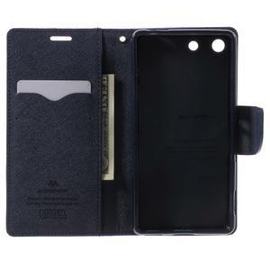 Goos PU kožené peňaženkové puzdro pre Sony Xperia M5 - fialové - 4
