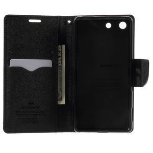 Goos PU kožené peňaženkové puzdro pre Sony Xperia M5 - hnedé - 4
