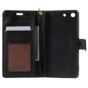Croco Peňaženkové puzdro pre mobil Sony Xperia M5 - čierne - 4