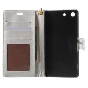 Croco Peňaženkové puzdro pre mobil Sony Xperia M5 - biele - 4