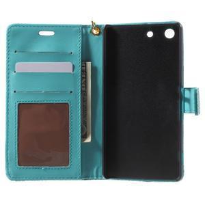 Croco peněženkové pouzdro na mobil Sony Xperia M5 - modré - 4