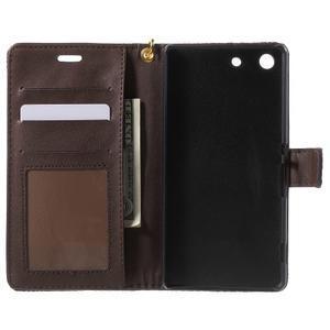 Croco Peňaženkové puzdro pre mobil Sony Xperia M5 - coffee - 4