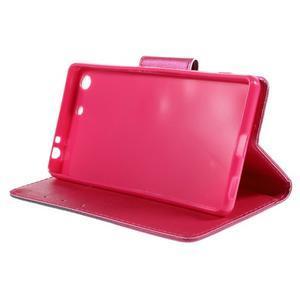 Crafty Peňaženkové puzdro pre Sony Xperia M5 - srdce - 4